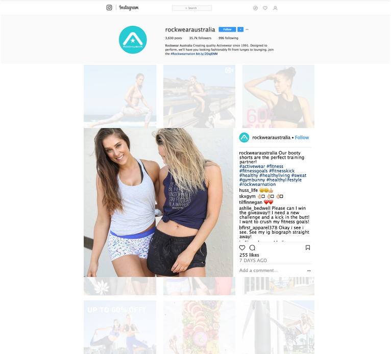 Campaign | Alice Jane X Rockwear Australia - Fitness Model for Rockwear Australia Activewear Collection