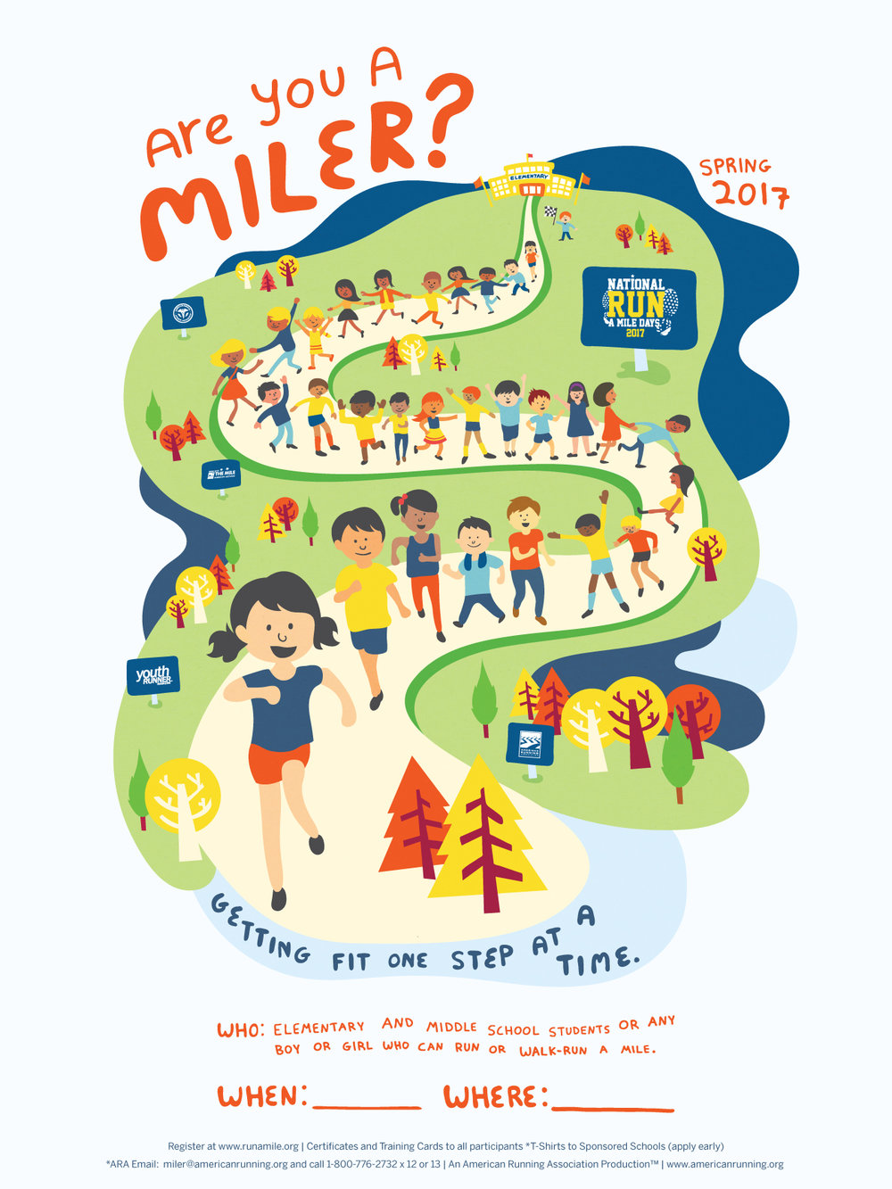 national run a mile days 2017 poster
