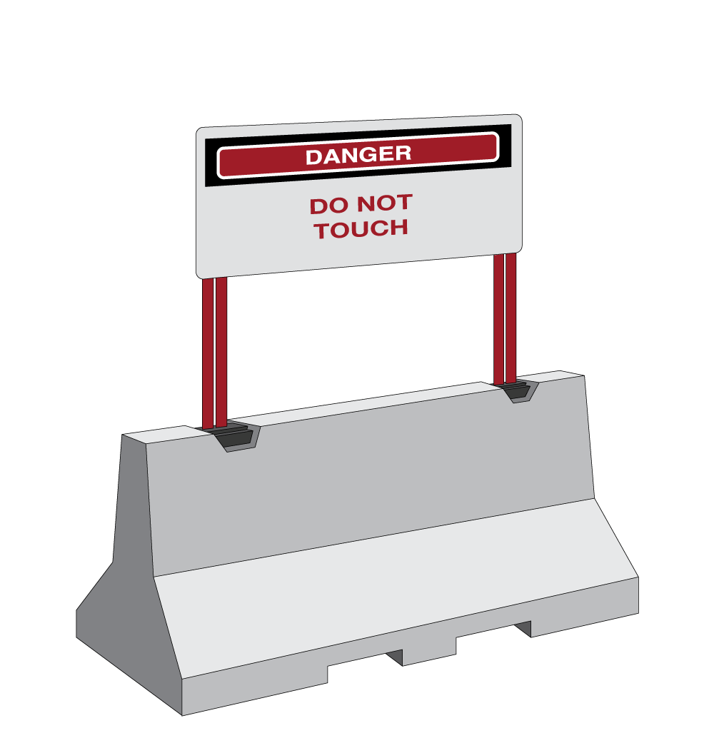 8 foot length with signs