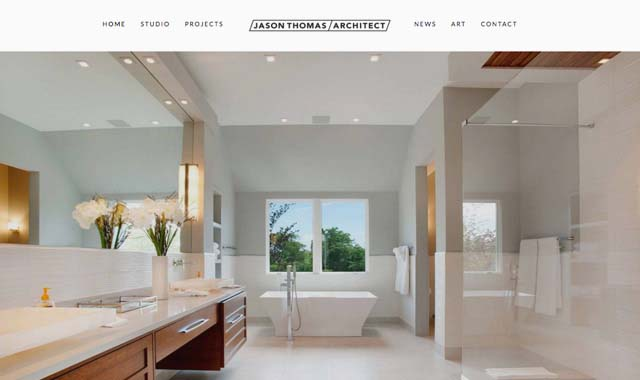 Minimalist Architecture Firm Website Designer