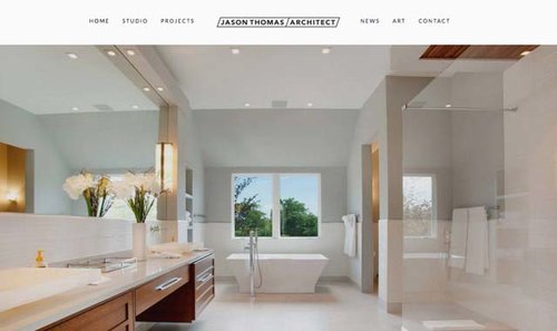 minimalist architecture firm website designerjpg - Interior Web Design