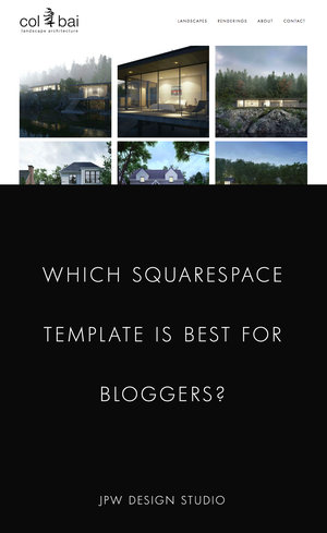 Best Squarespace Template For Blogs Jpw Design Studio Web Design
