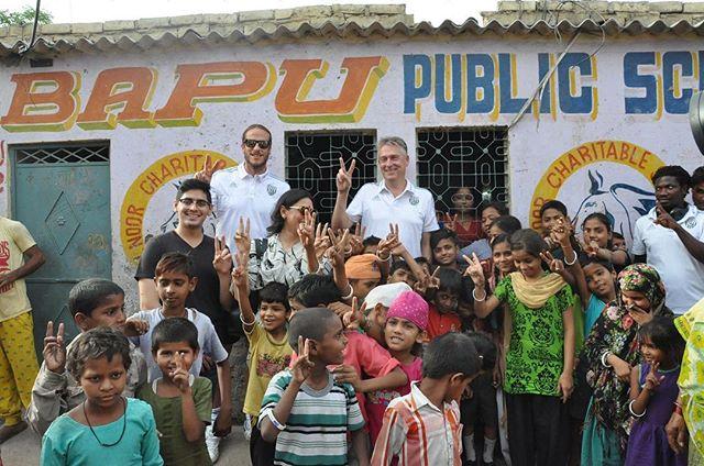 Football for Health at the Bapu school with @jonasolsson3 and @wba #breatheeasyindia #footballforhealth