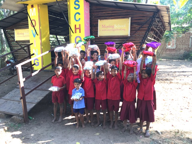 Our Finish ambassadours Summit, meaning Godparents visited the Rolling School in Apora in Goa with x-mas presents - highly appreciated, thank you