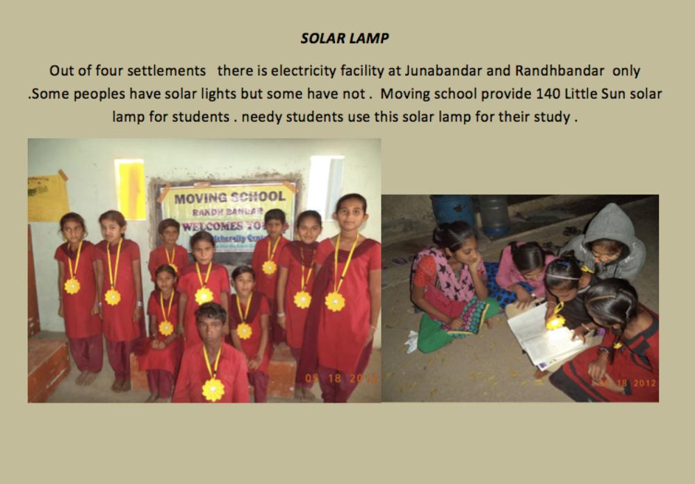 Januar nyheder fra Gujarat - little sun solcelle lamper er endelig i brug