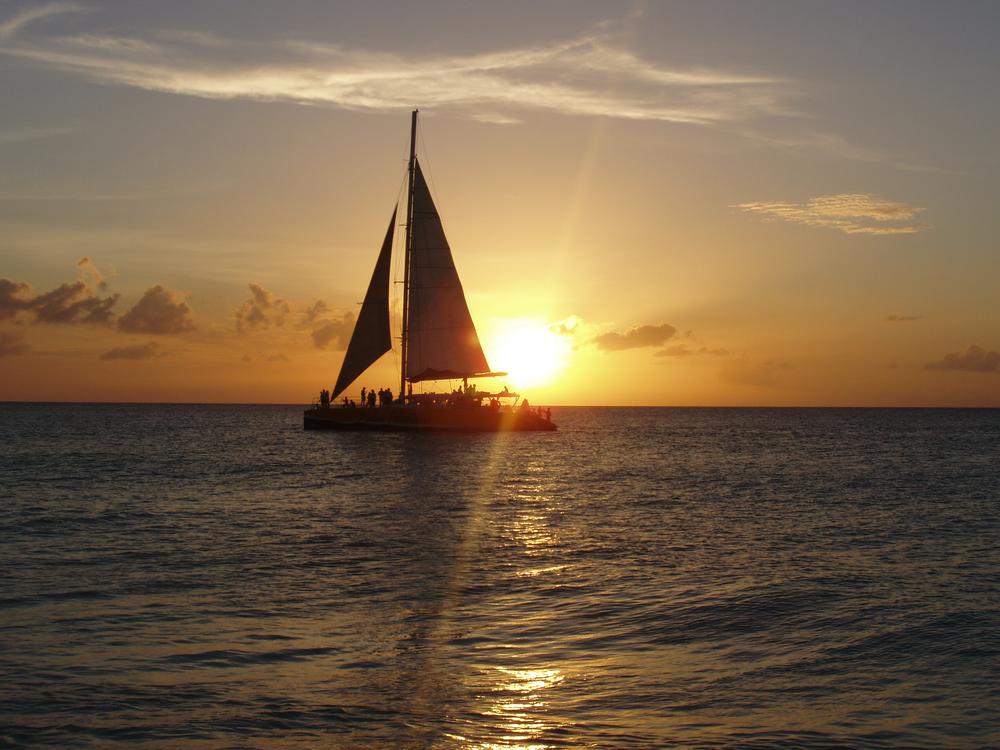 Sunset Sailing Kona Big Island Hawaii