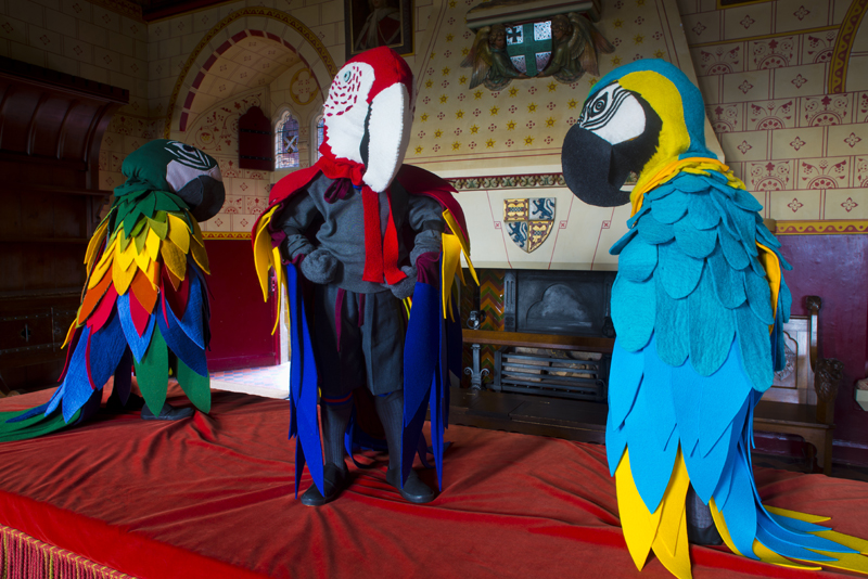 installation view, the little lords, 2019, castell coch,  ©  laura ford,   photography jon pountney