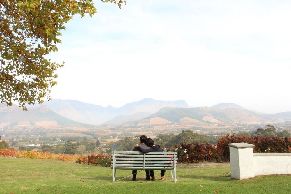La Petite Ferme bench view