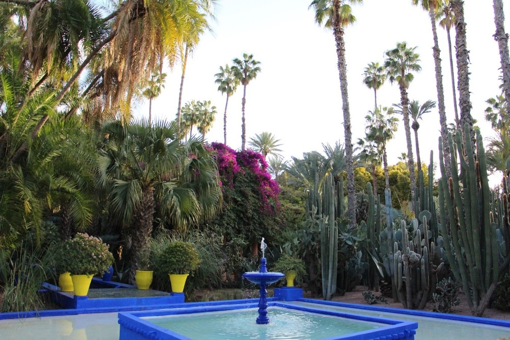 unimpressive fountain jardin majorelle