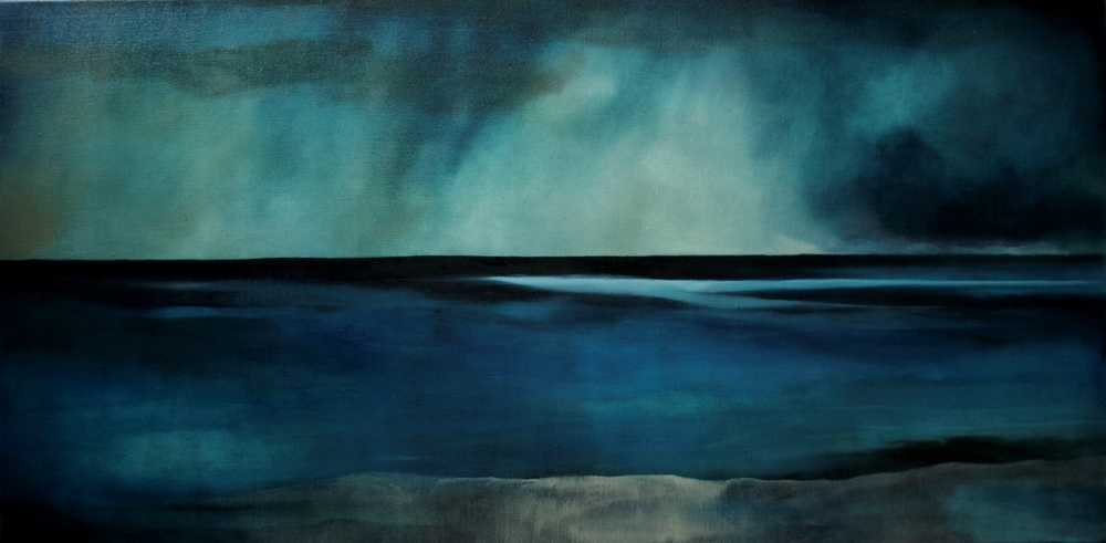 Ocean Light Colliding, oil on canvas, 600x1200mm, 2010, sold (private collection, USA)