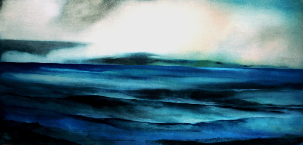 Distance Gives Perspective, oil on canvas, 1200x600mm, 2010, sold