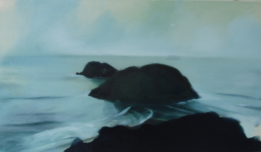 Snapper Island , oil on canvas, 610x350mm, 2006, sold