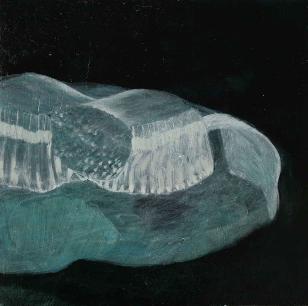 Delicate Series: Compartment Nole , oil on gesso on wood, 300x300mm, 2008, sold
