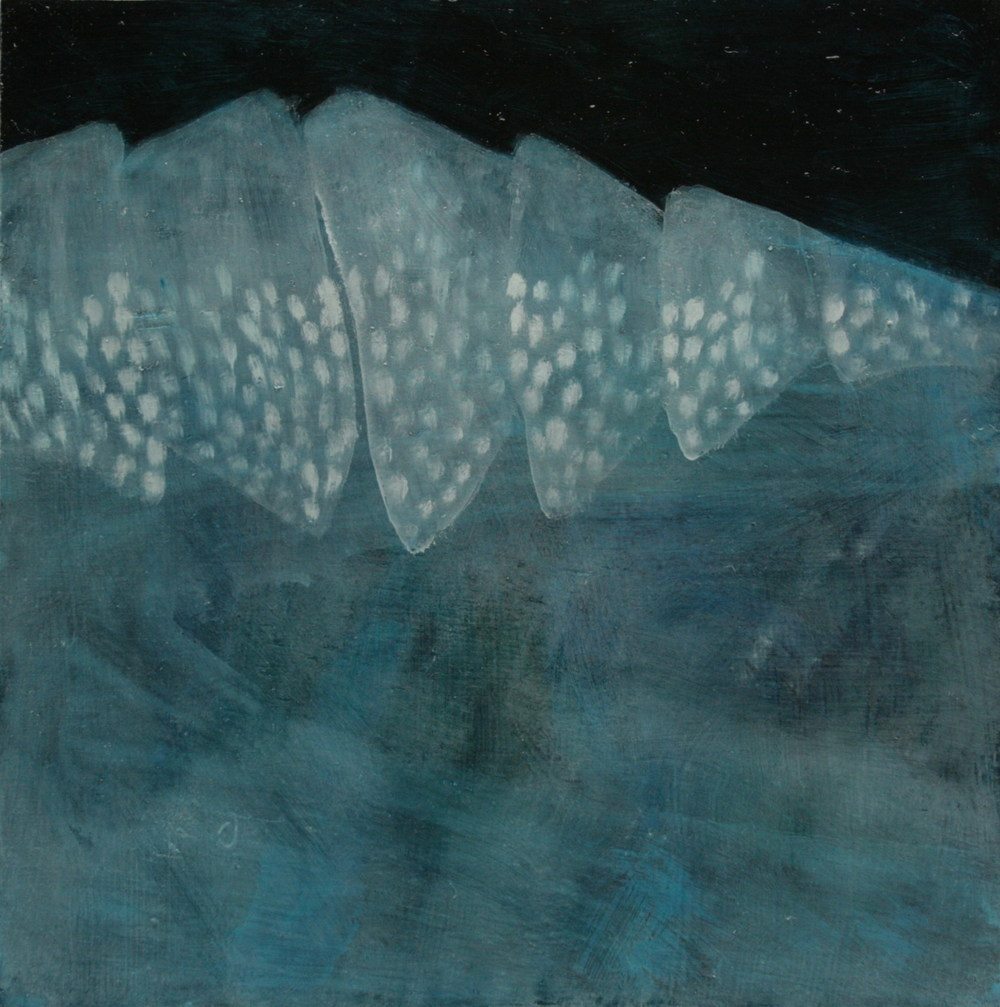 Delicate Series: Clasp Ridge , oil on gesso on wood, 300x300mm, 2008, sold