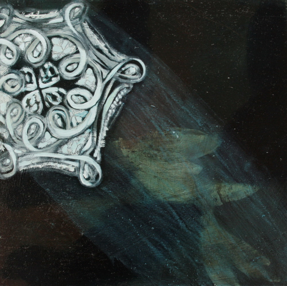 Delicate Series: untitled,  oil on gesso on wood, 300x300mm, 2008, sold