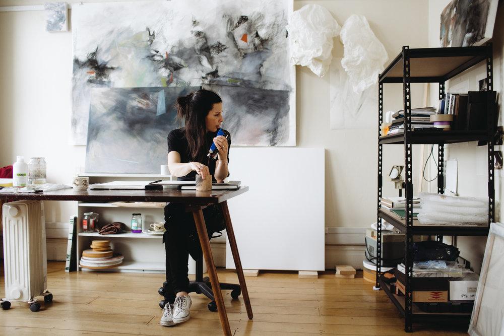 Amanda Watson in her studio