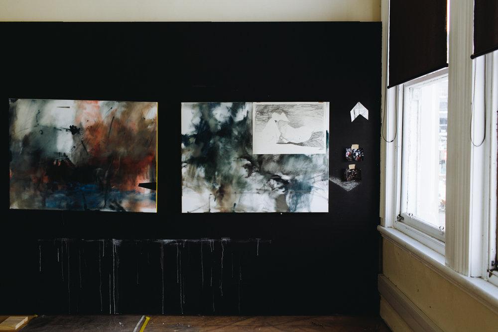 Amanda Watson's painting studio