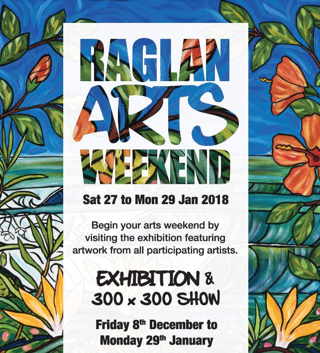 I'm looking forward to having an open studio in my community, and being part of the exhibition at the Old School Arts Centre on Stewart Street in Raglan.
