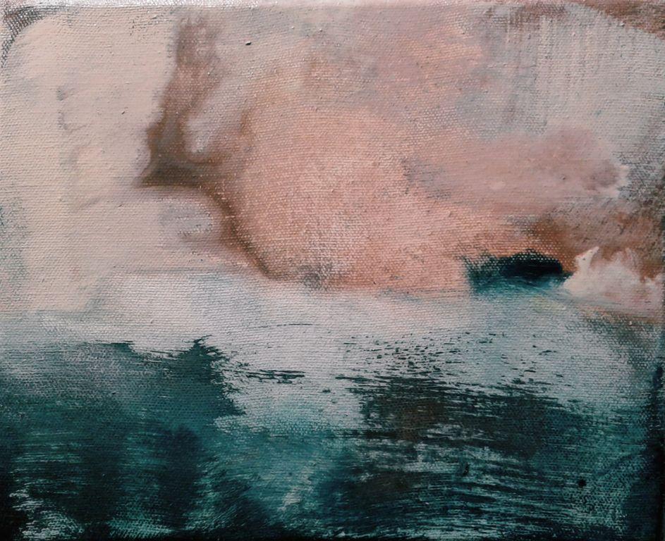 Untitled landscape V , 200x250mm, oil on canvas,  sold