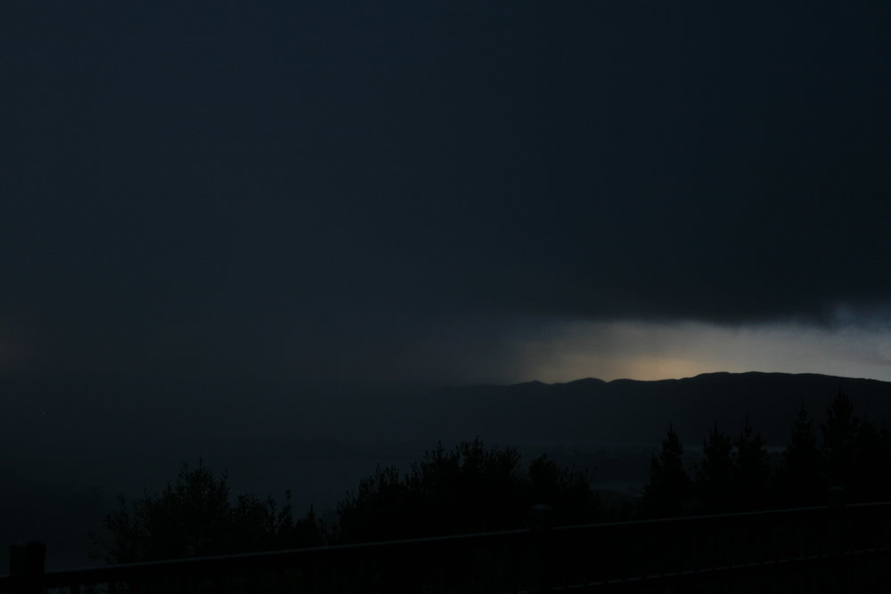 Storm from our window in Raglan