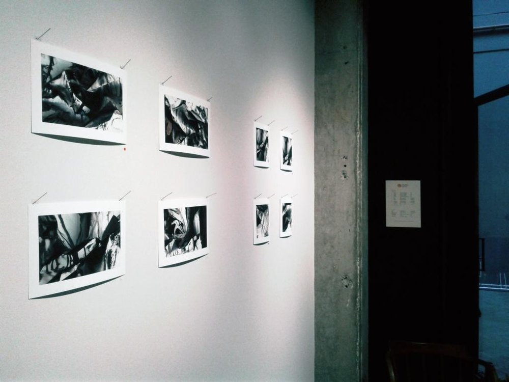 Here is a photograph of the prints hanging in the gallery