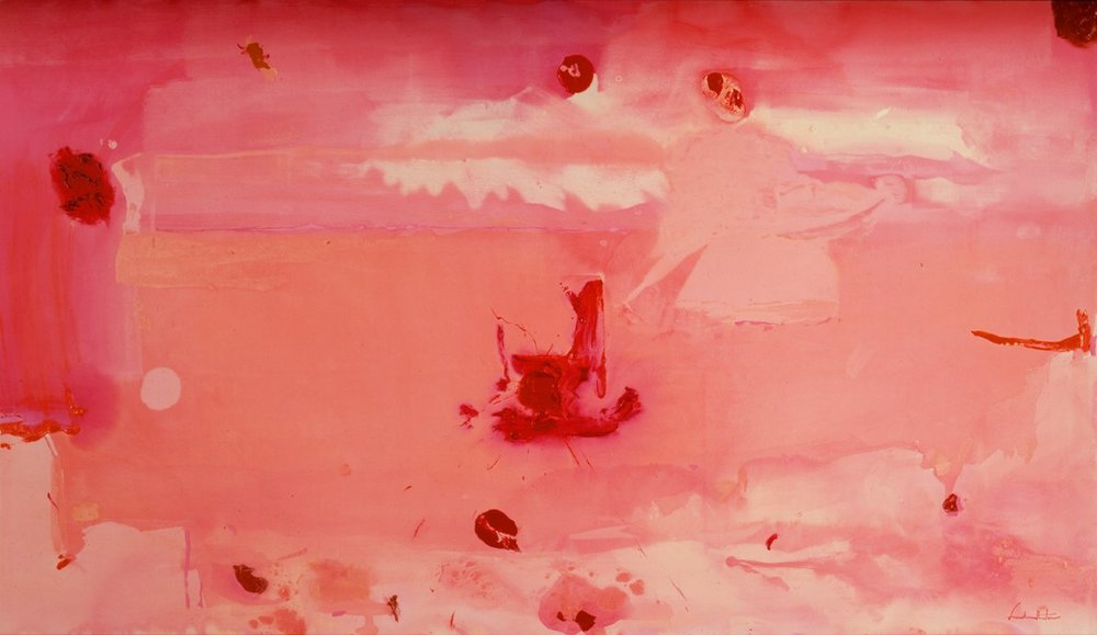 Helen Frankenthaler . Around the Clock with Red, 1983