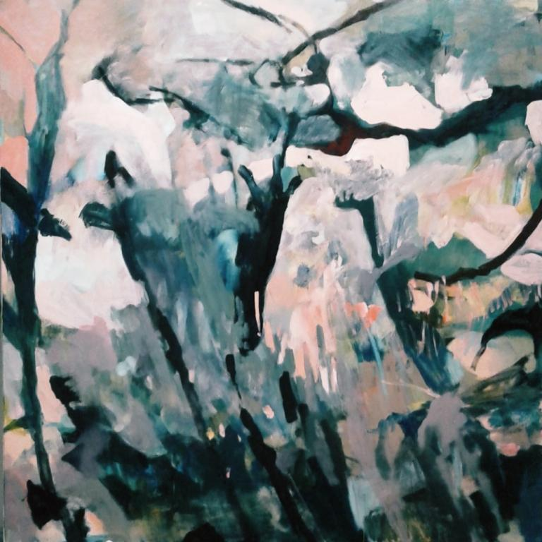 Canopy_1200x1200mm_ink and oil on canvas_$5700