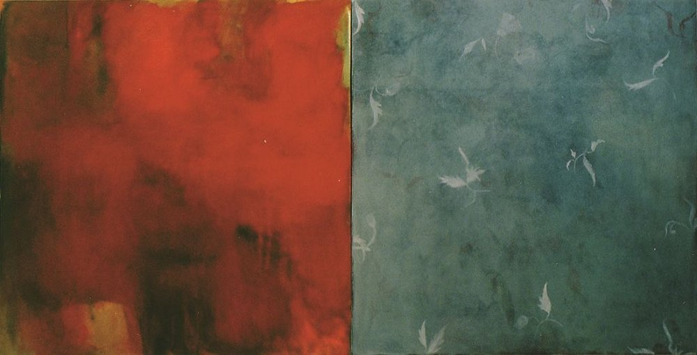 Here and Beyond, oil on canvas, diptych, c.2000x1000mm, 2000
