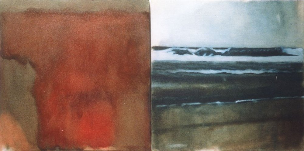 Spirit and Water, oil on canvas, diptych 800x400mm, 2000