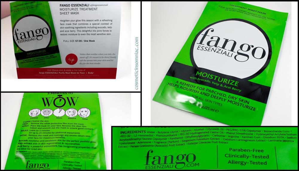 Fango Essenziali Sheet Mask  Made in Korea.