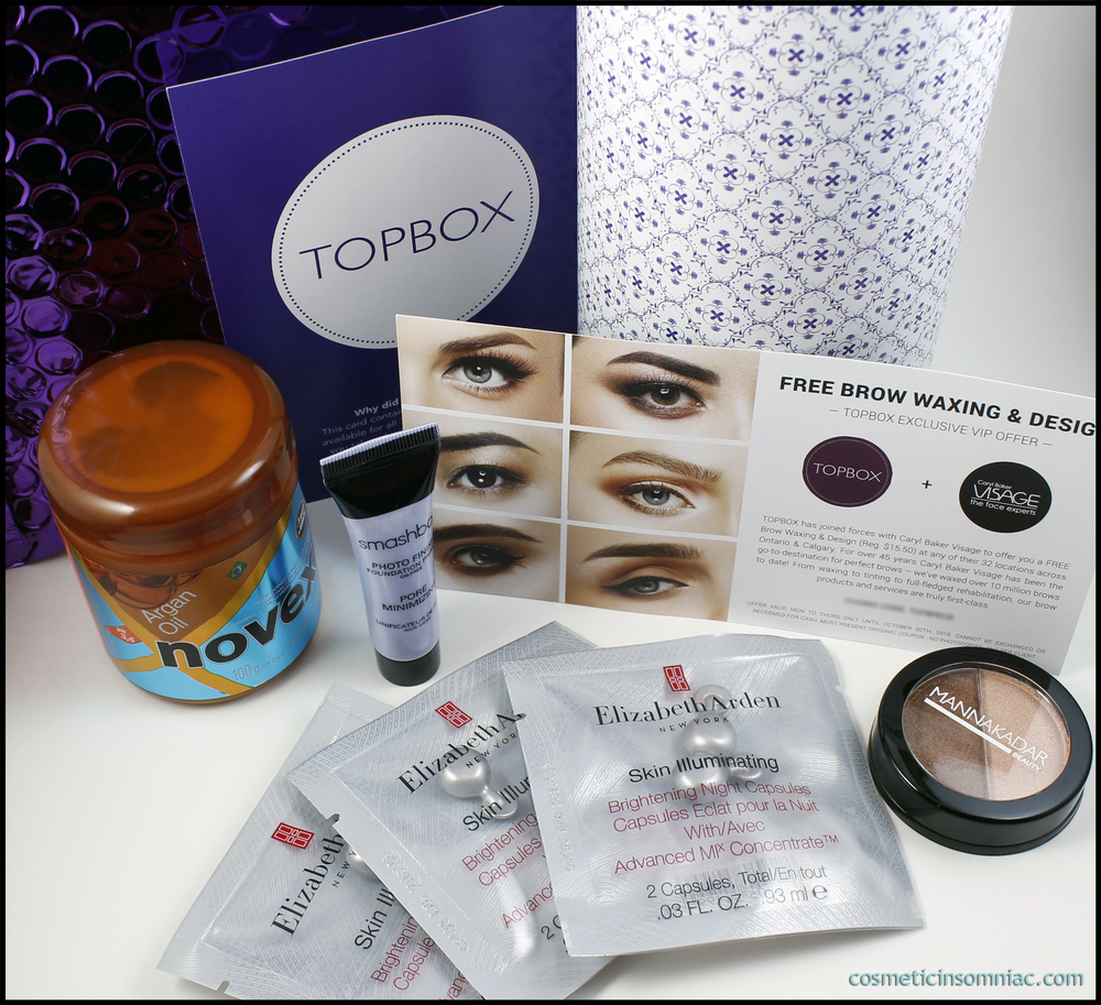 TOPBOX - August 2016   $12.00 CAD / Month   Shipping: Free