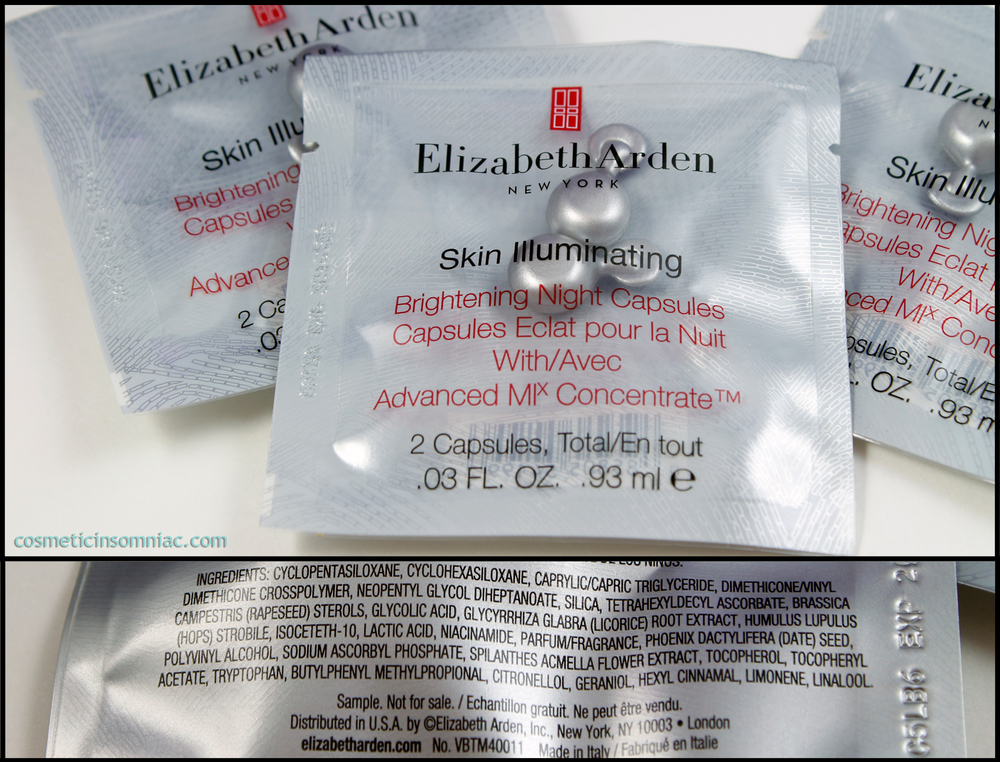 Elizabeth Arden Skin Illuminating Brightening Night Capsules  Made in Italy