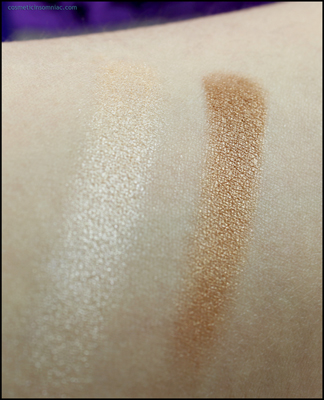 Manna Kadar Beauty Bronzer Highlighter swatch (fluorescent light).