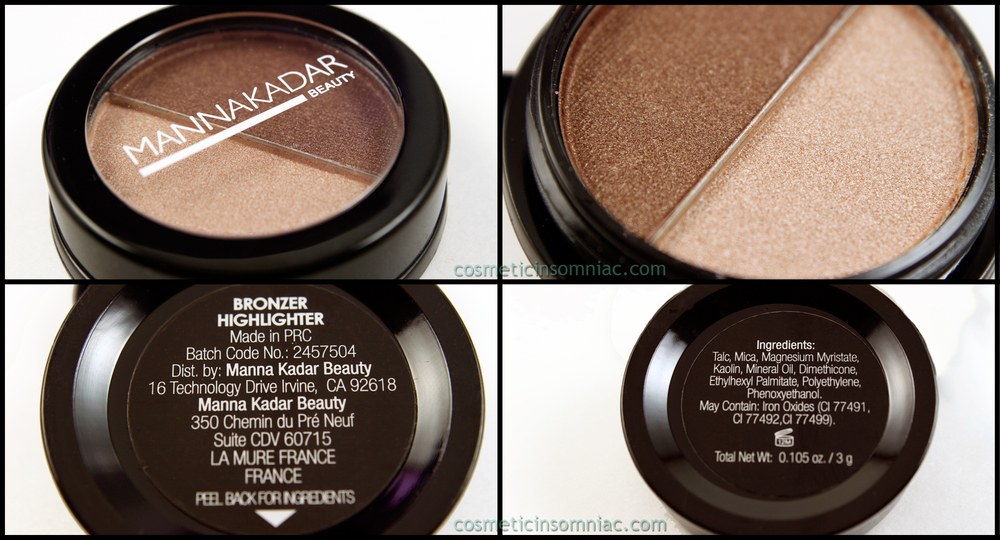 Manna Kadar Beauty Bronzer Highlighter 3g / 0.105 oz  Made in PRC (People's Republic of China)