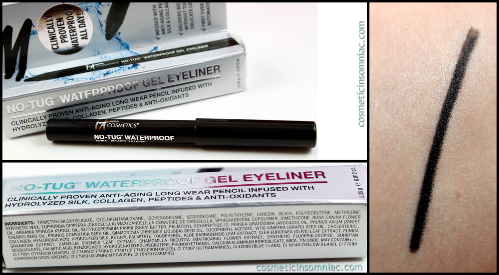 It Cosmetics No-Tug Waterproof Gel Eyeliner  Made in Korea