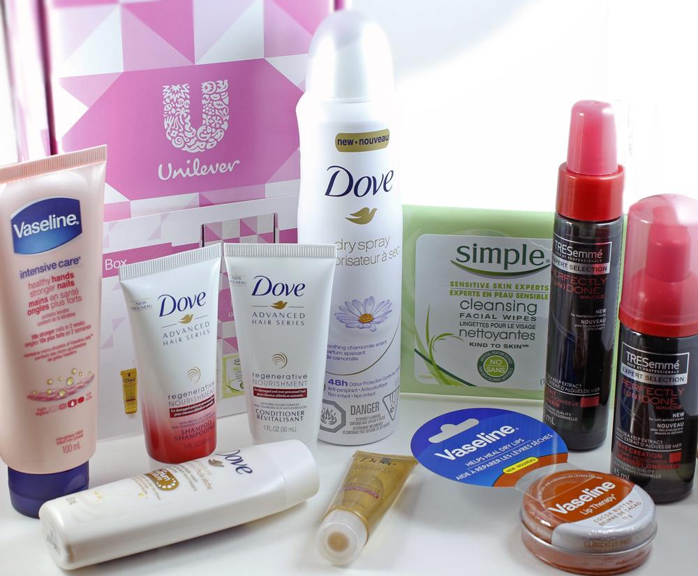 Topbox Canada September 2016 Bonus Unilever Trends Box