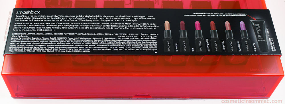 Smashbox Light It Up Lipstick Mattifier Set   Lipstick Ingredients (click to enlarge)