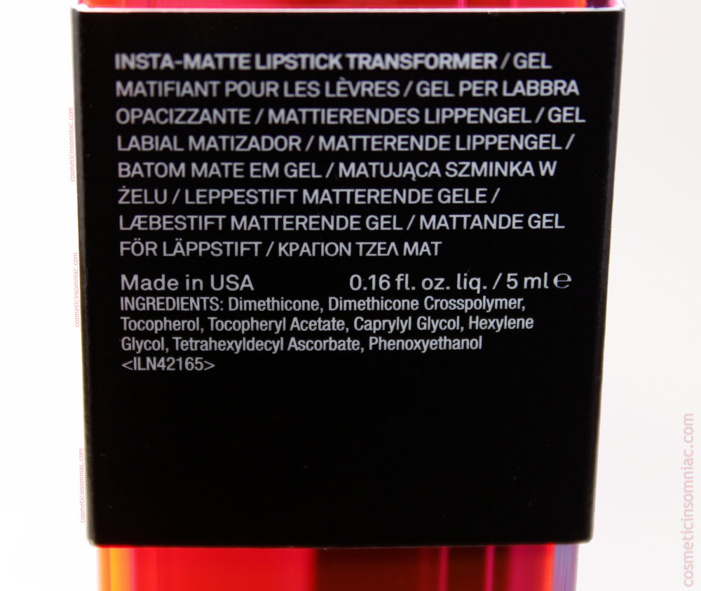 Smashbox Light It Up Lipstick Mattifier Set   Insta-Matte Lipstick Transformer Ingredients  (click to enlarge)