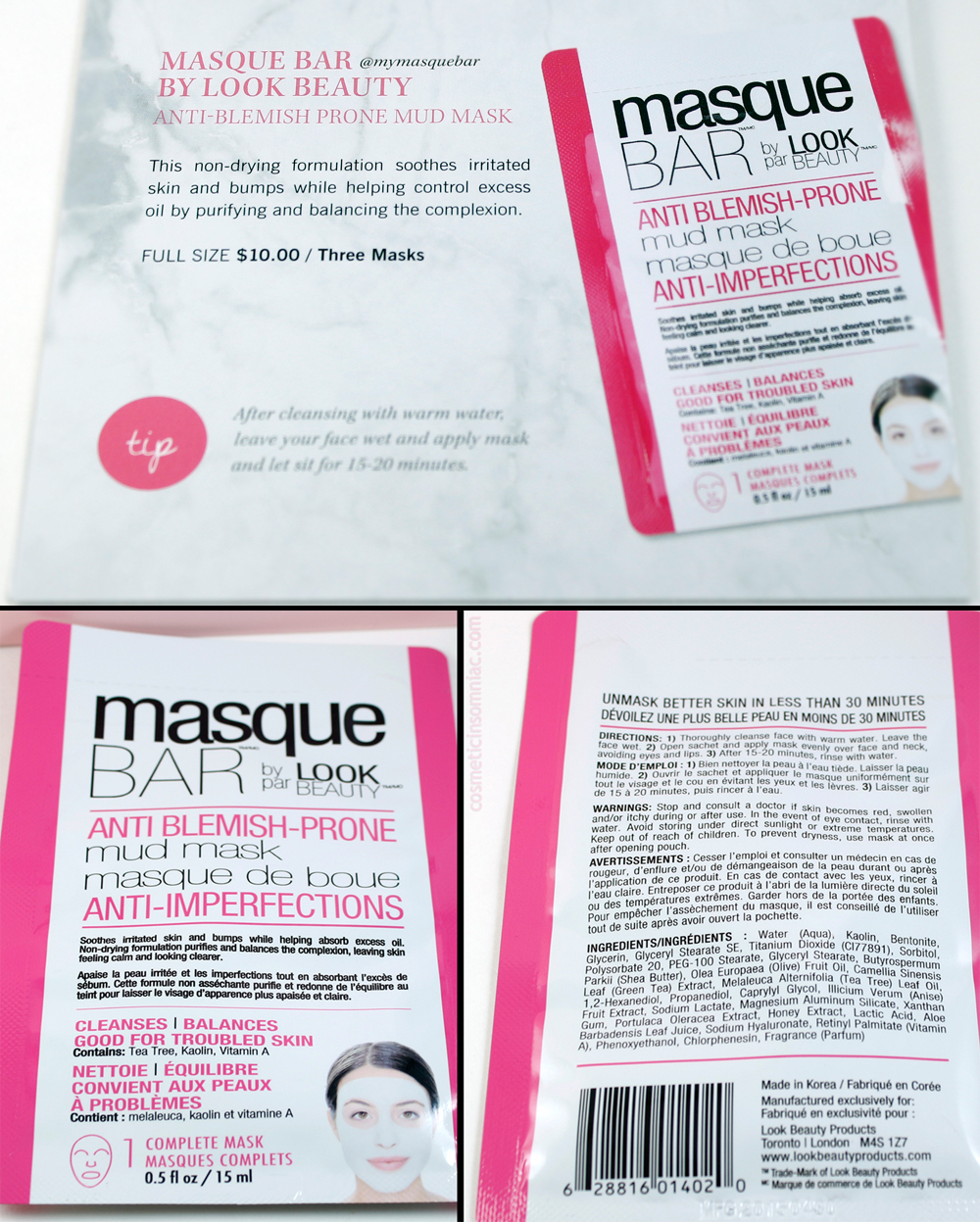 Glossybox October 2016    masque BAR by Look Beauty