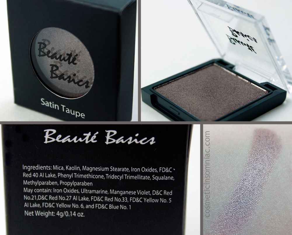 Beaute Basics eyeshadow - Satin Taupe