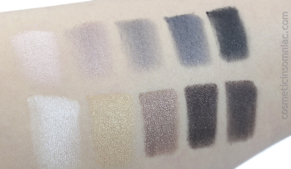 ANNABELLE Cosmetics - Marie-Mai Make Up Bag / Trousse de maquillage    Smokey Nudes Eyeshadow Palette    Swatches photographed under indirect fluorescent lighting