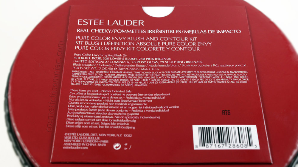 Estee Lauder - Real Cheeky Pure Color Envy Blush and Contour Kit    Ingredients (click to enlarge)
