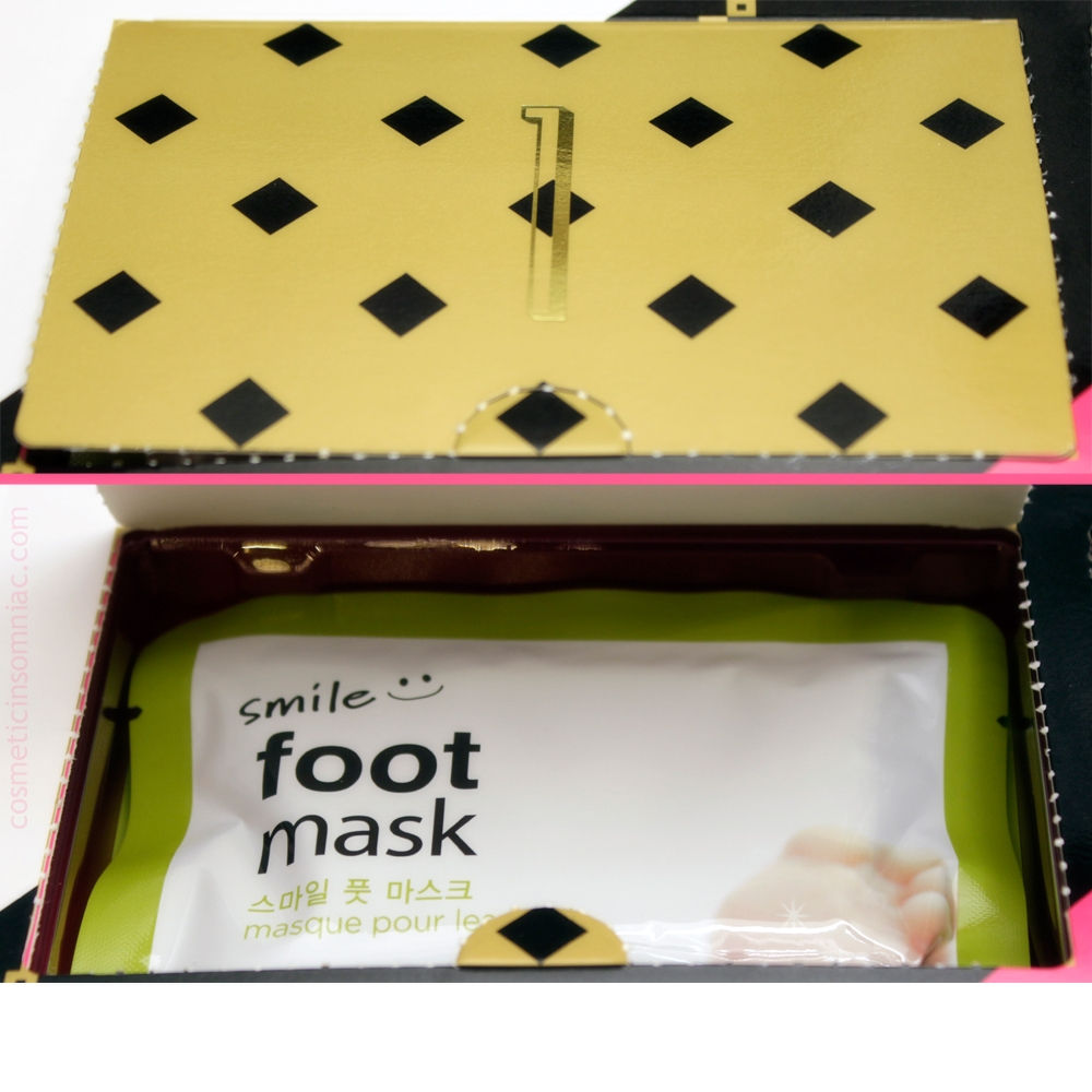 The Face Shop 12 Day Beauty Advent Calendar - 2016    Smile Foot - Foot Mask    Made in Korea
