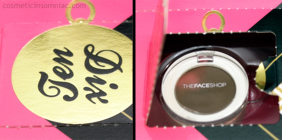 The Face Shop 12 Day Beauty Advent Calendar - 2016    Single Shadow - BR03    Made in Korea