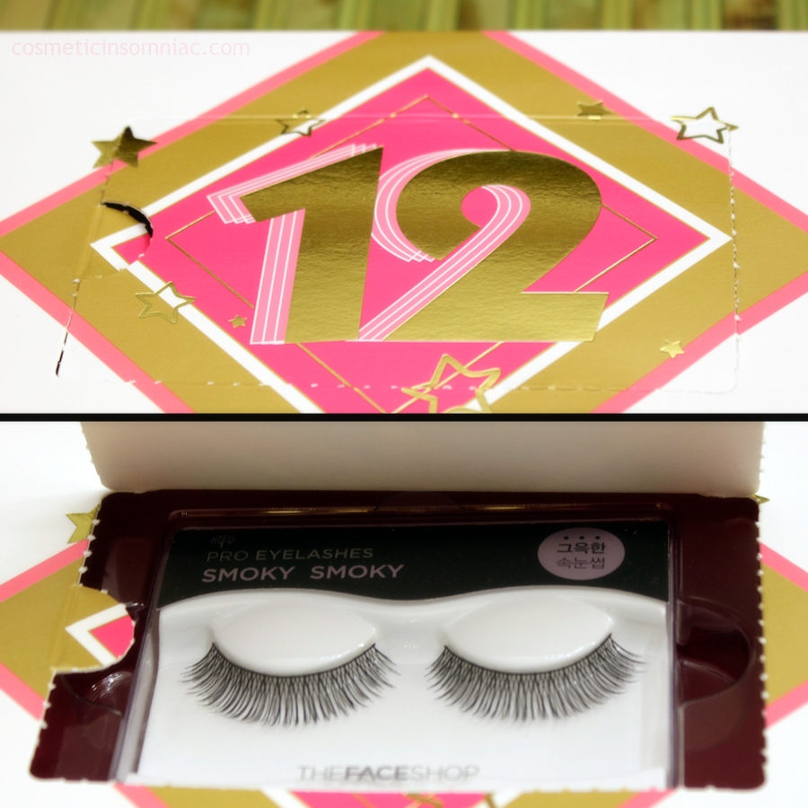 The Face Shop 12 Day Beauty Advent Calendar - 2016    False Eyelashes 08 Smoky    Made in China