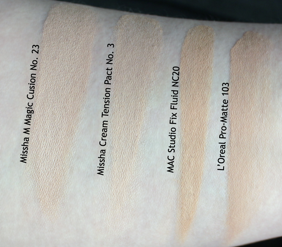 TOPBOX - December 2016  Missha Privé box  Swatches taken under indirect sunlight (dry)
