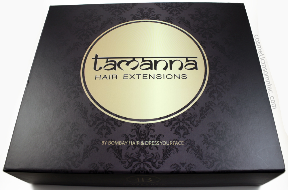 Bombay Hair  Tamanna Ombre Hair Extensions  $350.00 CAD  Origin India.  Manufactured in China.     Box (Front)