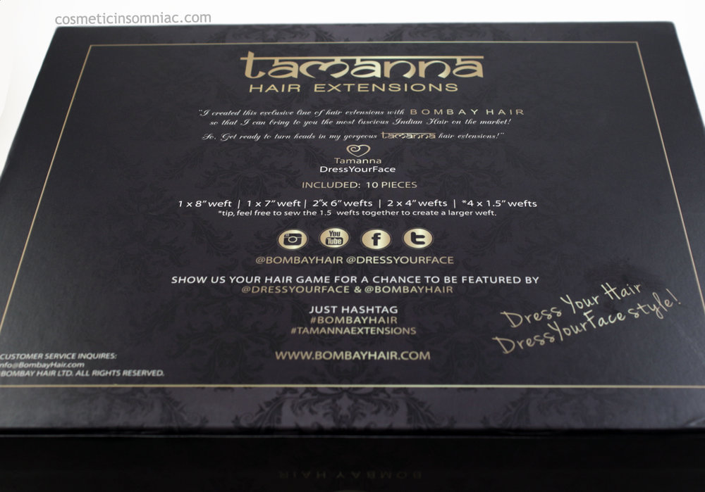 Bombay Hair  Tamanna Ombre Hair Extensions  $350.00 CAD  Box (Back)