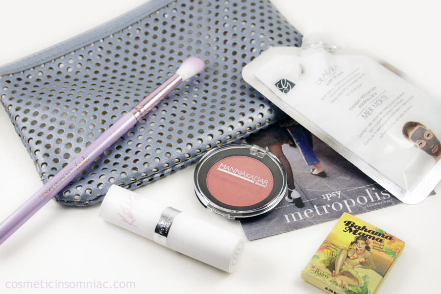 ipsy Glam Bag  January 2017  $10.00 USD + $4.95 USD shipping / month
