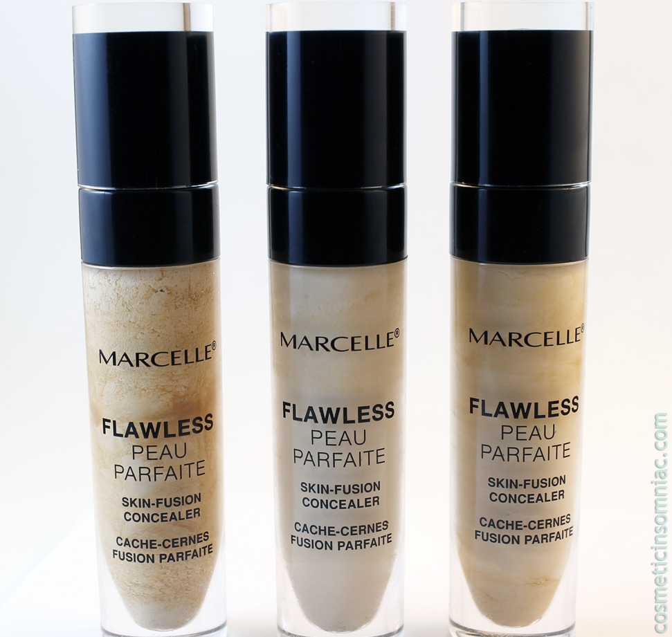 Marcelle Flawless Skin-Fusion Concealer    L to R:   Fair,  Light to Medium,  Medium to Dark
